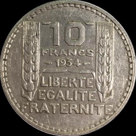Cotation et cours de l 39 argent du 10 francs turin 1929 - Bureau de change sans frais ...